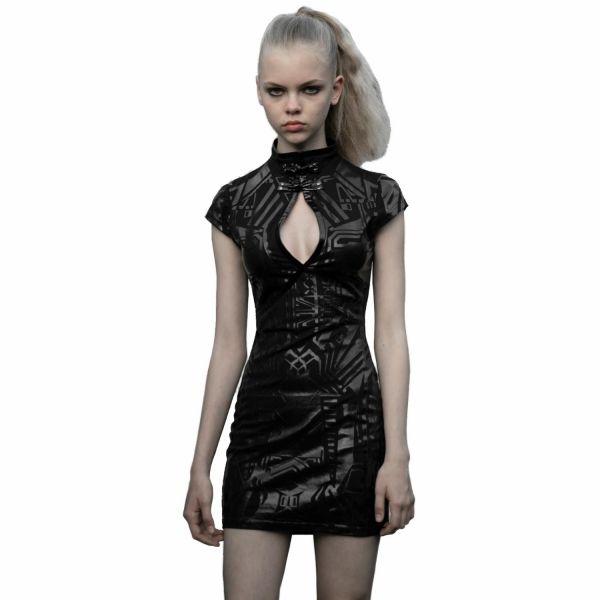 Bodycon Minikleid in futuristischem Cyber Girl Look