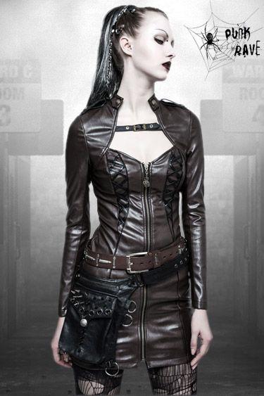 damen kleider raven punk