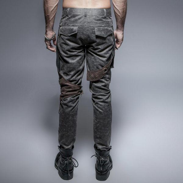 Steampunk Hose mit bronzefarbenen Applikationen
