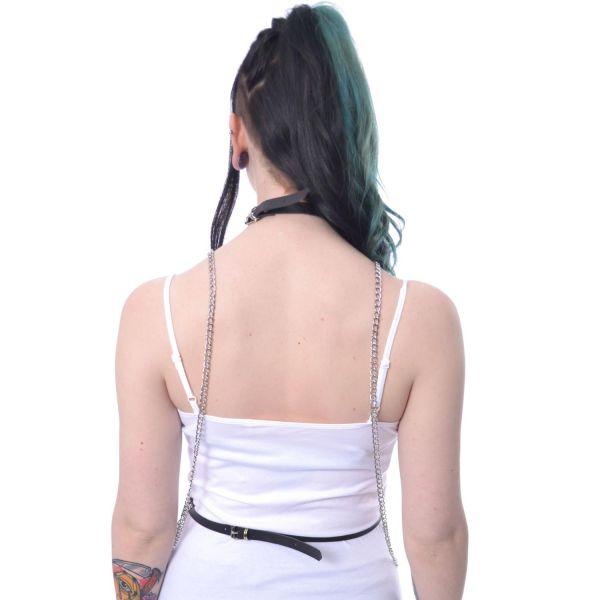 Taillengürtel Harness im Bondage Look mit Ketten