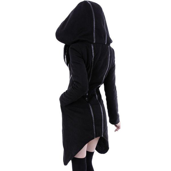 Wintermantel Damen mit riesiger Kapuze asymmetrisch