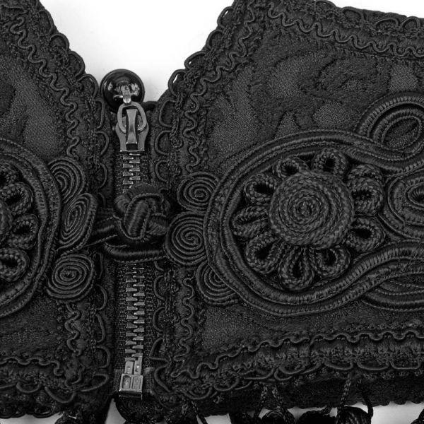 Viktorianischer Taillengürtel mit Troddeln und Zipper
