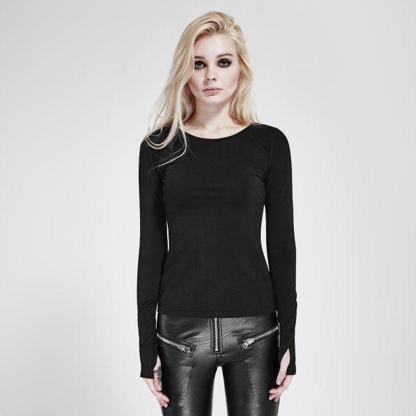 Daily Goth Shirt mit Verzierung in Stacheldraht Optik