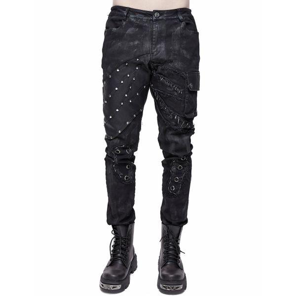 Industrial Hose im Grunge Style mit Nieten und Tasche