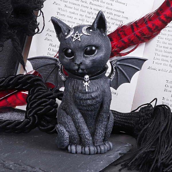 Bat Cat Figur mit mystischen Symbolen