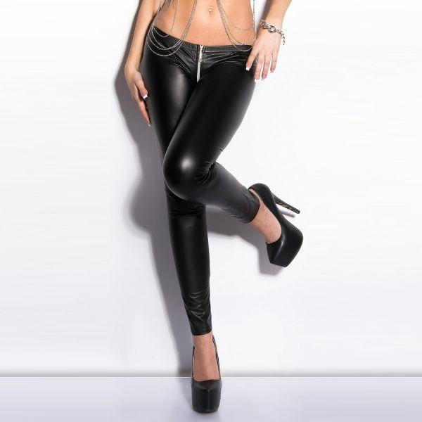 Fetisch Leggings in Lederoptik