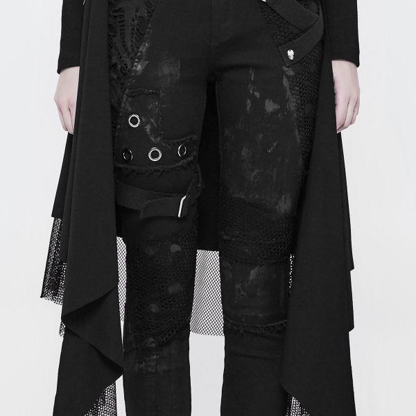Slim Fit Hose mit Beinholster im Punk Vintage Look