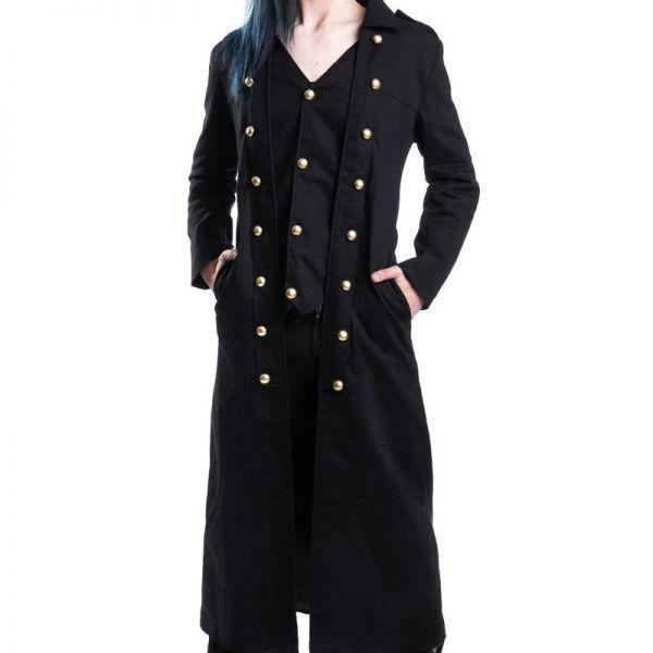 Gothic Style Mantel im Uniform Look mit Weste