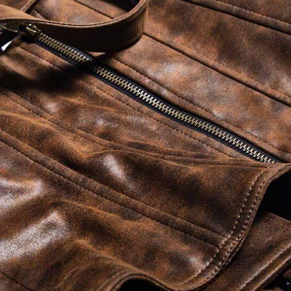 Steampunk Unterbrust Westencorsage im Vintage Lederlook