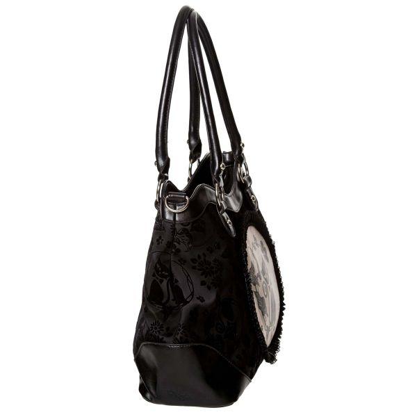 Gothic Lolita Handtasche - Black Cameo Cat