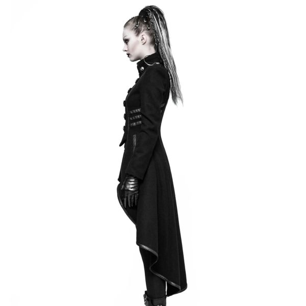 Military Gehrock im Vokuhila Style mit Epauletten