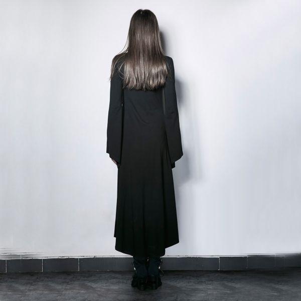 Gothic Kleid im Nonnen Look mit Trompetenärmeln