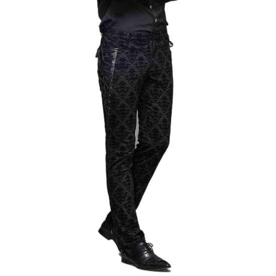 Viktorianische Schwarze Hose Schnürungen Schwarze Mit Hose Viktorianische 4RLAj5