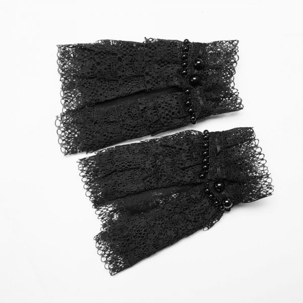 Viktorianische Arm Manschetten aus gerüschter Spitze