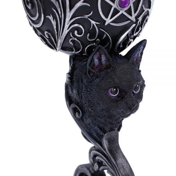 Schwarze Katze Weinkelche im Barock Design
