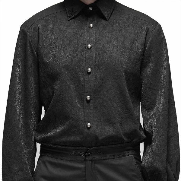 Jaqcuard Aristokraten Hemd mit Manschettenknöpfen