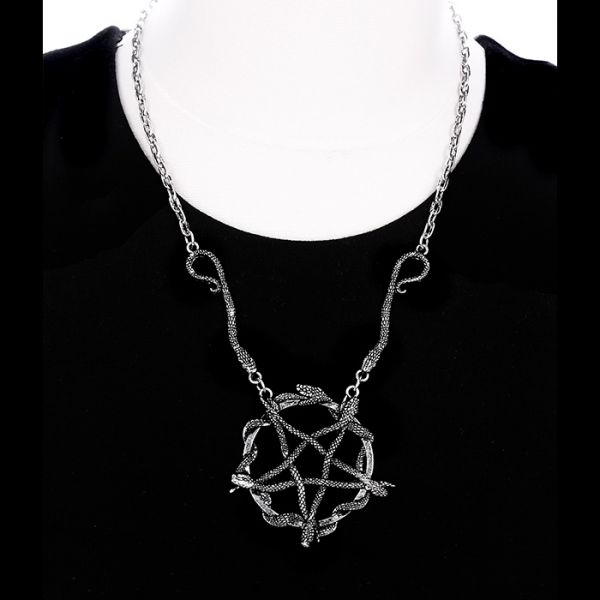 Schlangen Pentagramm Halskette Mystic Style
