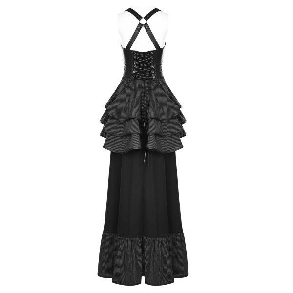 Steampunk Unterbrust Corsagenkleid mit Raffrock