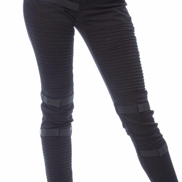 Skinny Jeans mit Akzentuierungen im Rüstungs-Look