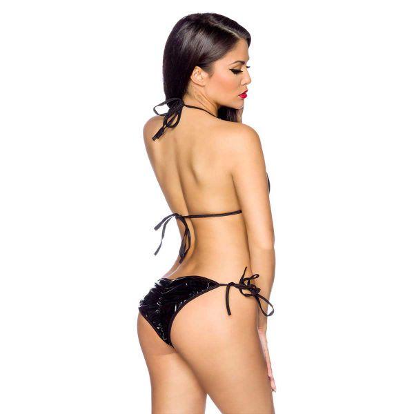 Lack Bikini - Unterwäsche Set