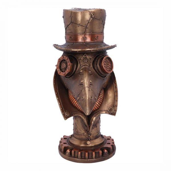 Doktor Schnabel Steampunk Büste im Bronze Look