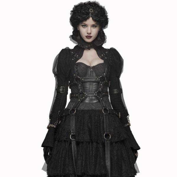 Steampunk Lolita Harness Bolero im Käfig Look