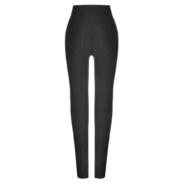 High Waist Leggings mit Zippern im Gothic Style
