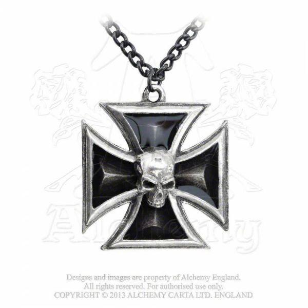 Halskette mit Iron Cross - Black Knights Crosss