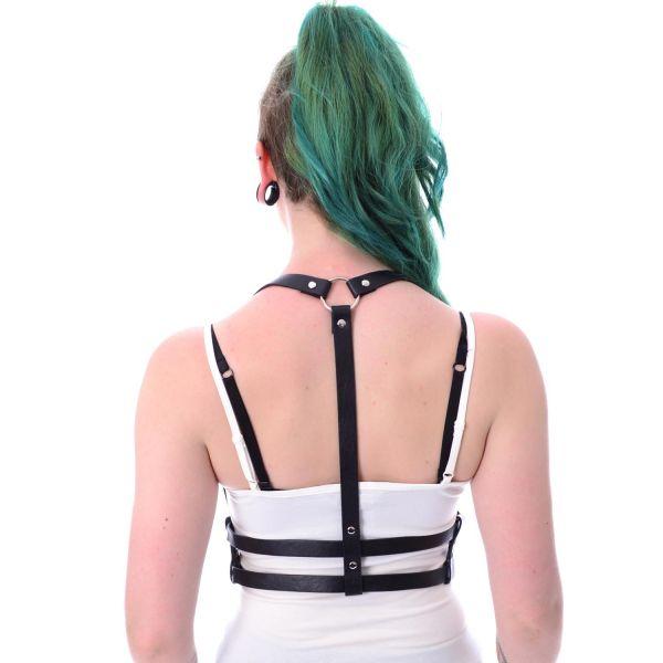Harness mit Taillengürtel in Lederoptik