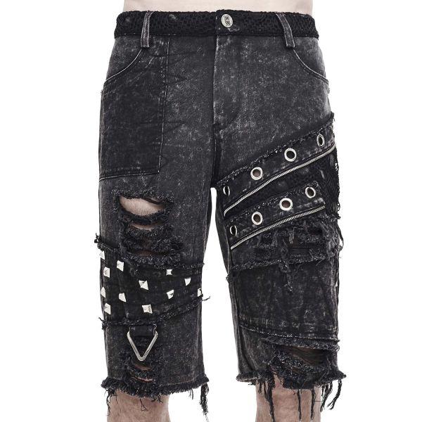 Zerrissene Shorts in verwaschenem Post Apocalyptic Style