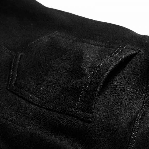 Schwarze Leggings mit Häkchen Applikationen