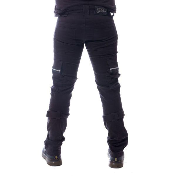 Hose mit Beintaschen und Reißverschlüssen