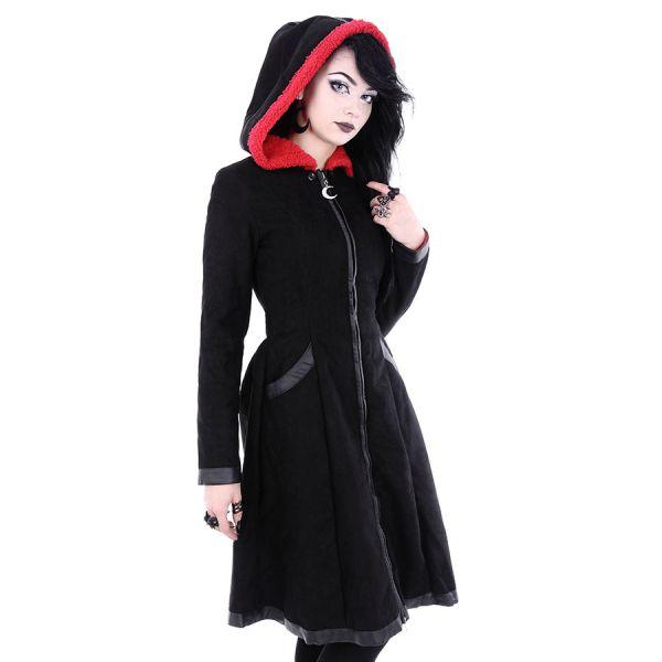 Gothic Lolita Wintermantel mit Fledermausflügel Cape