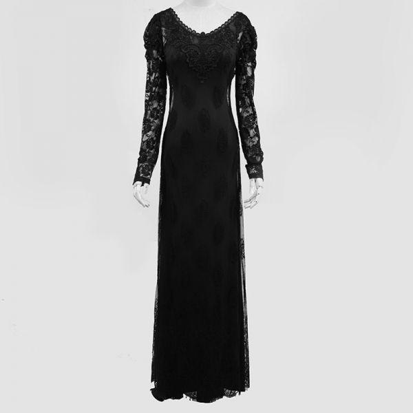 Gothic Style Maxikleid aus Spitze mit Unterkleid