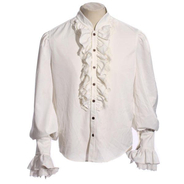 Steampunk Rüschenhemd mit Schnürung und Zierfalten