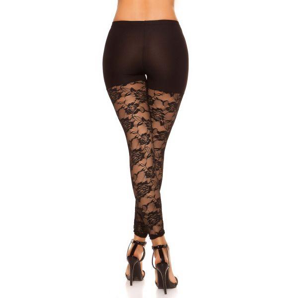 Leggings im Hotpants Look mit Spitze