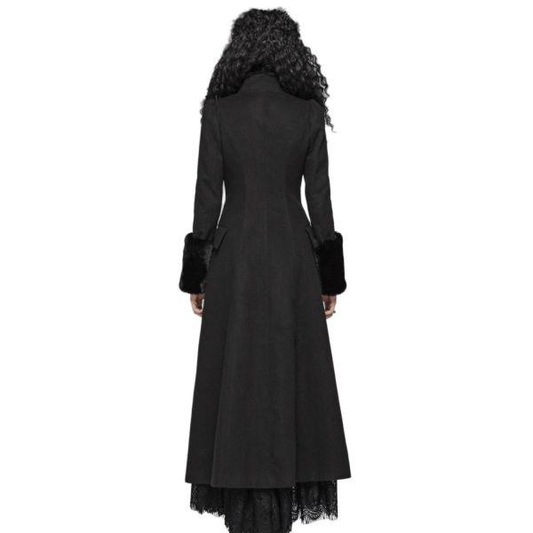 A-Linie Gothic Mantel mit breiten Plüsch Manschetten