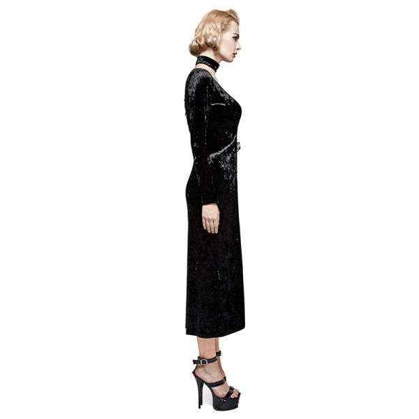 Gothic Mantelkleid aus Samt mit Schnürung