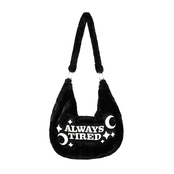 Statement Hobo Bag in Felloptik - Always Tired