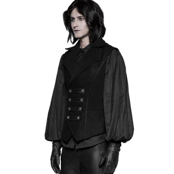 Uniform Weste mit Revers Kragen und Paspelierungen