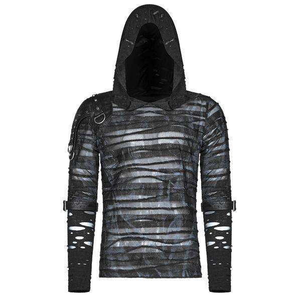 Post Apocalyptic Kapuzenshirt in transparentem Look