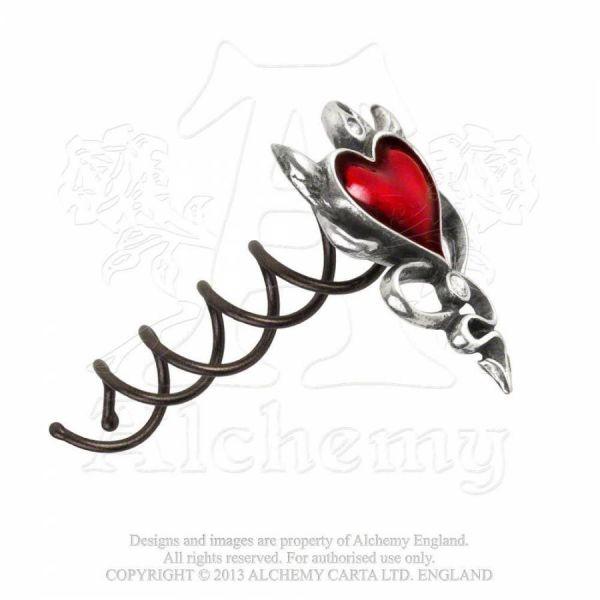 Haarspirale groß - Devil Heart