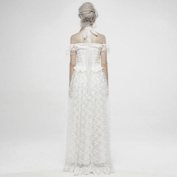 Barock Brautkleid aus Spitze mit Cold-Shoulder Top