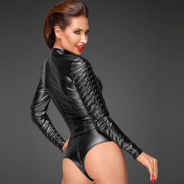 Fetisch Jacke in futuristischem Uniform Leder-Look