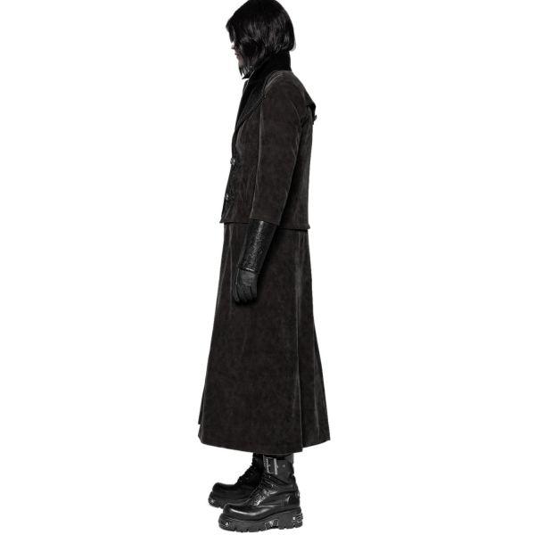 2-1 Steampunk Samt Mantel und Jacke mit Reverskragen
