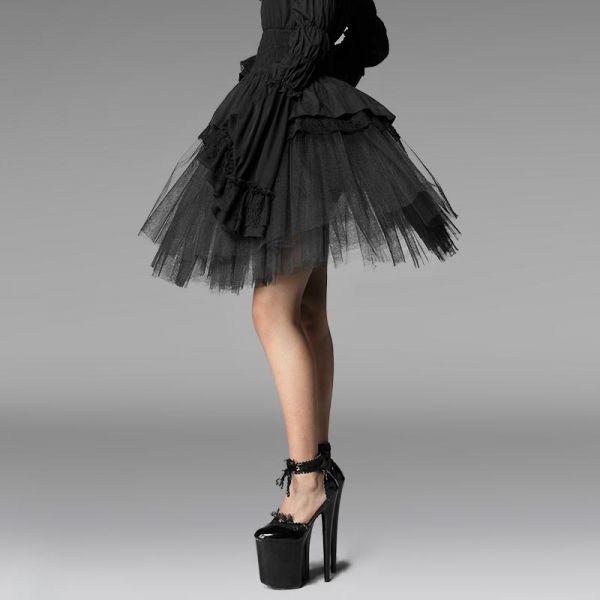 Voluminöser Tüll Mini Petticoat