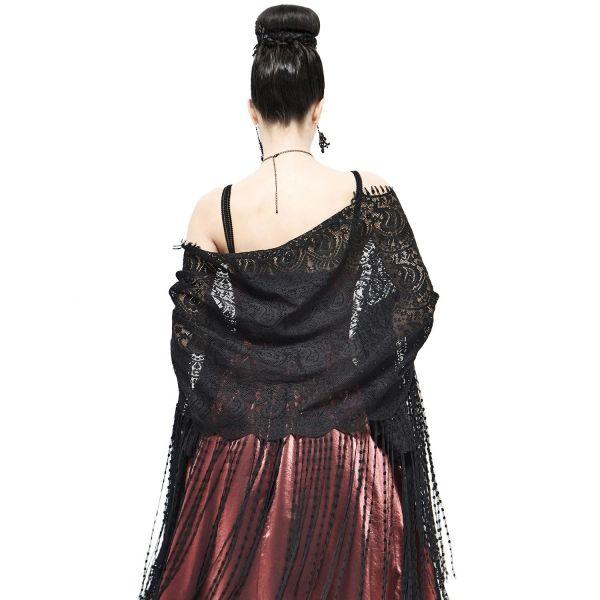 Elegante Schal Stola aus Spitze mit Troddeln