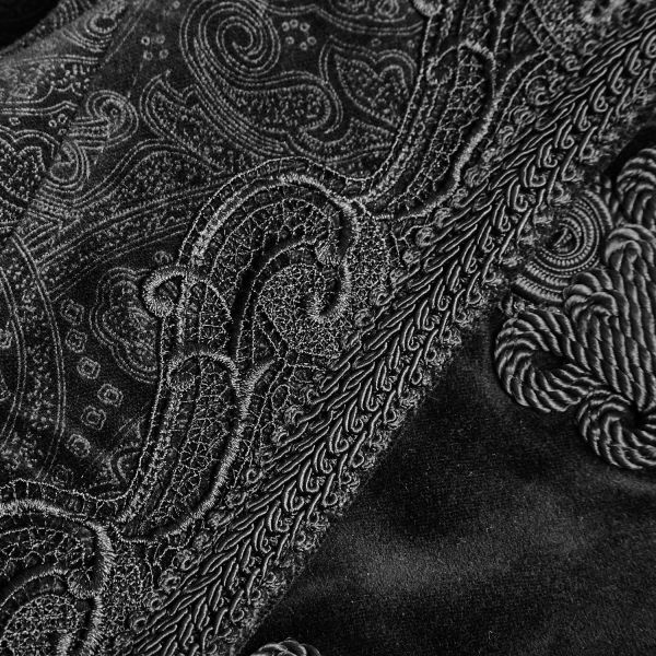 Viktorianischer Samt Mantel mit Posament Schliessen