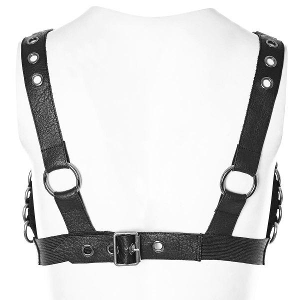 Fetisch Kunstleder Brust Harness Top mit D-Ringen