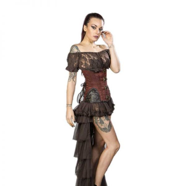 Steampunk Unterbrust Korsett mit Nieten im Warrior Look